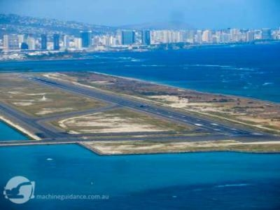 Re-paving Reef Runway at Honolulu Airport with Machine Guidance