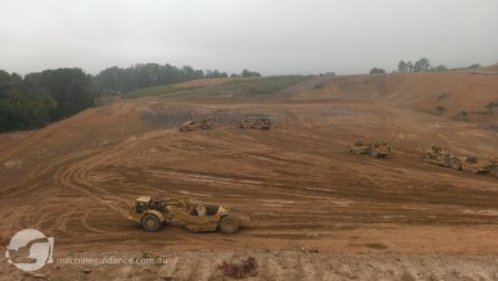 Landfill construction without survey stakes
