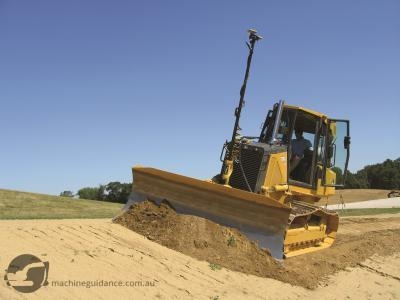 John Deere 700J dozer with machine guidance