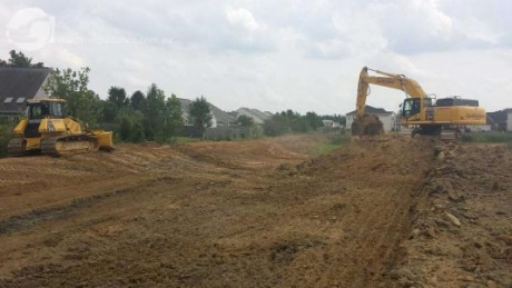 Subdivision construction using machine guidance technologies.