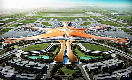 "Beijing's Daxing Airport was designed in collaboration with the late Dame Zaha Fahid, who was widely known as architecture's ""Queen of Curves"". When it opens in 2019, this beautiful and very busy airport will reside on solid ground--its flat, compact and reliable base prepared with the help of Trimble dynamic compaction technology."