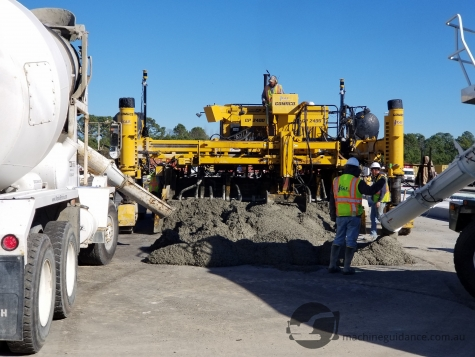 Concrete Paving with Machine Guidance