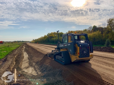 Machine Control Technology on a Compact Track Loader