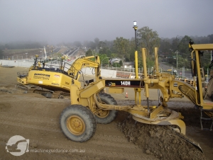 Total Station Grader with GPS Excavator