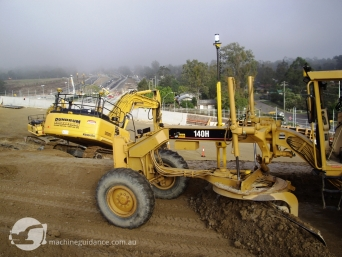 Trim Grader and GPS Excavator