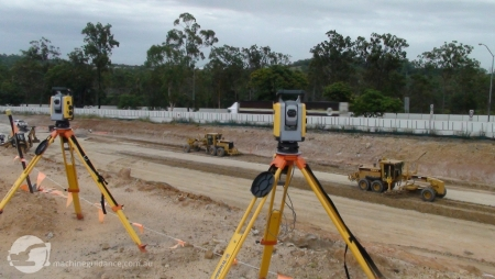 2 x Total Station Guided Trim Graders