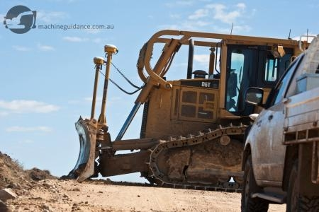 CAT D6T equipped with dual-mounted Trimble GPS.