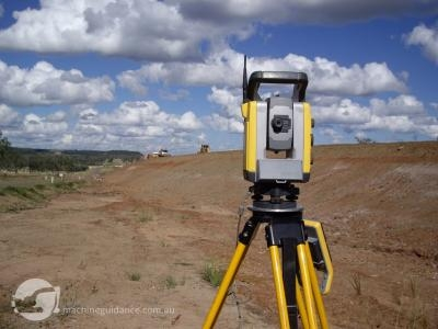 Total stations can be set up outside the immediate work zone.