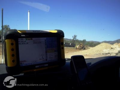 Car-mounted systems allow a supervisor to visualise the job without stakes.