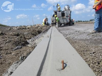 Machine Control Concrete Gutter