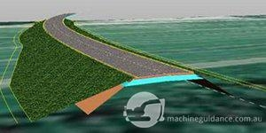 Tekla Civil 3D-model of the Road 51