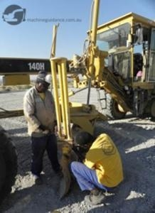 Fitting a Machine Control Grader