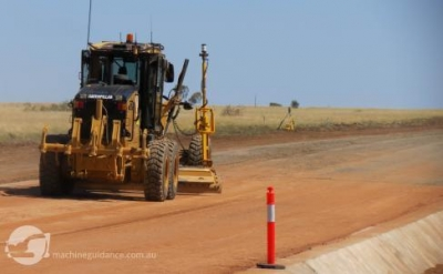 Highway Pavement Trimming with Machine Guidance
