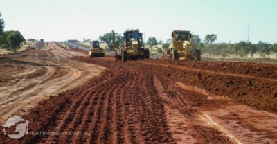 Qld Flood Repairs using Machine Guidance