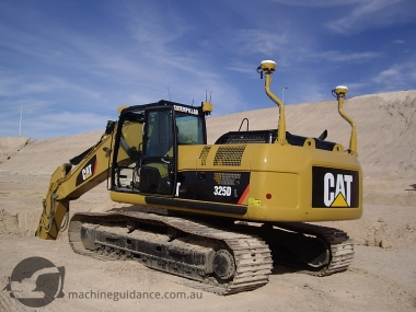 GPS Excavator with Dual Masts